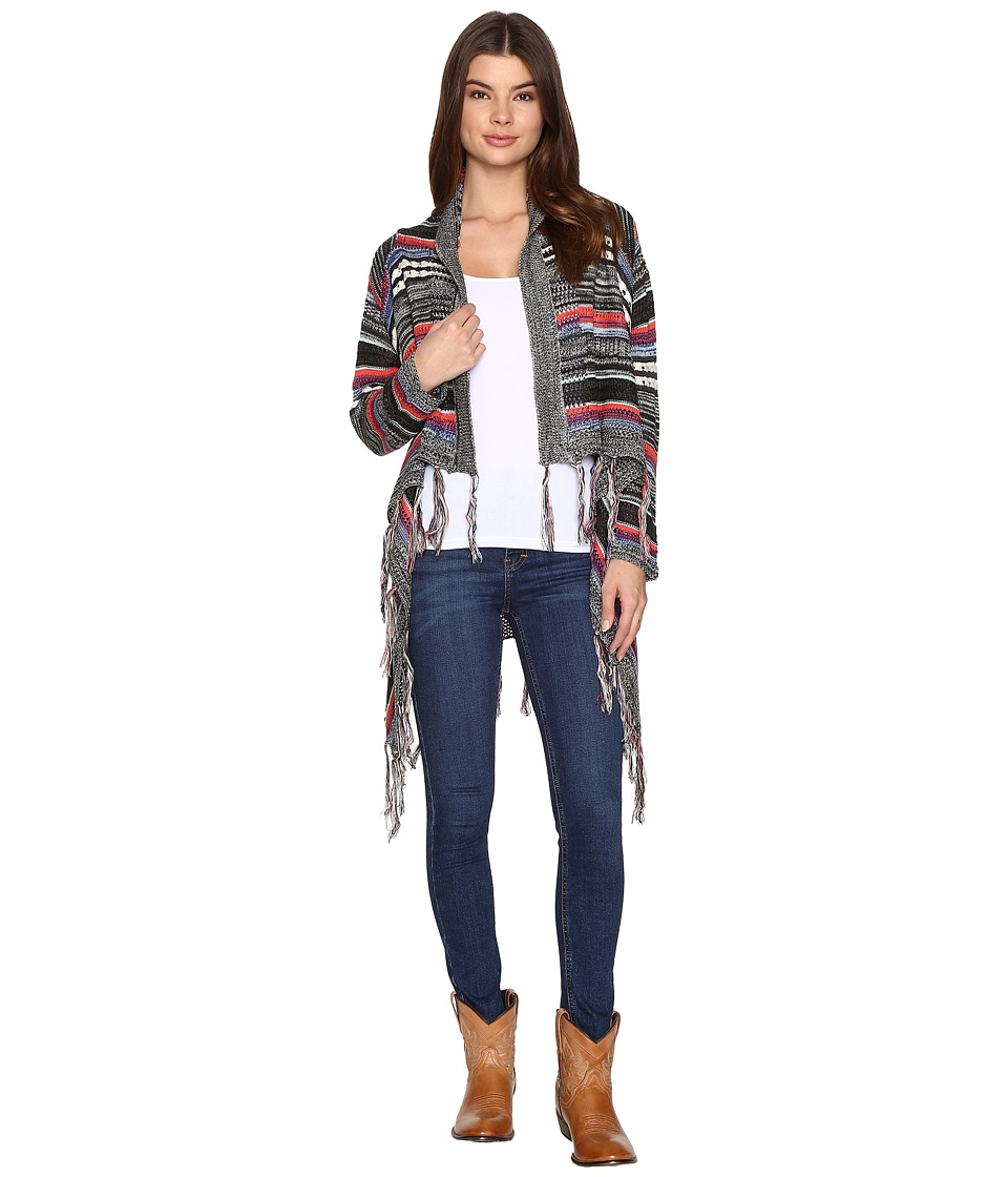 Rock and Roll Cowgirl - Cardigan 46-9597 (Black) Women's Sweater