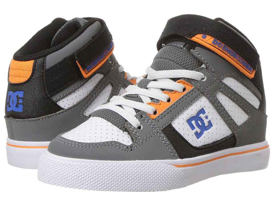 DC Kids - Spartan High EV (Little Kid/Big Kid) (Grey/Blue/White) Boys Shoes