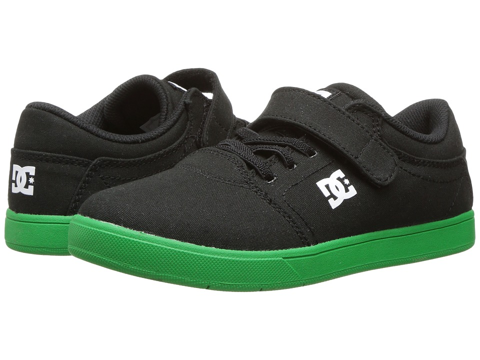DC Kids - Crisis EV TX (Little Kid/Big Kid) (Black/Green) Boy's Shoes