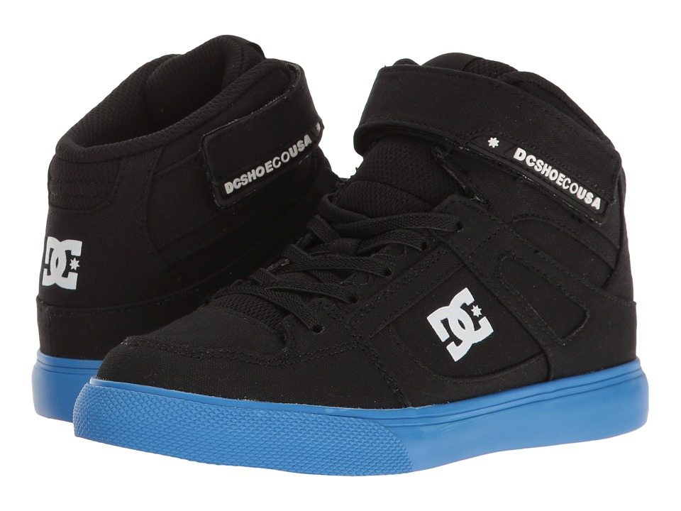 DC Kids - Spartan High TX EV (Little Kid/Big Kid) (Black/Blue) Boy's Shoes