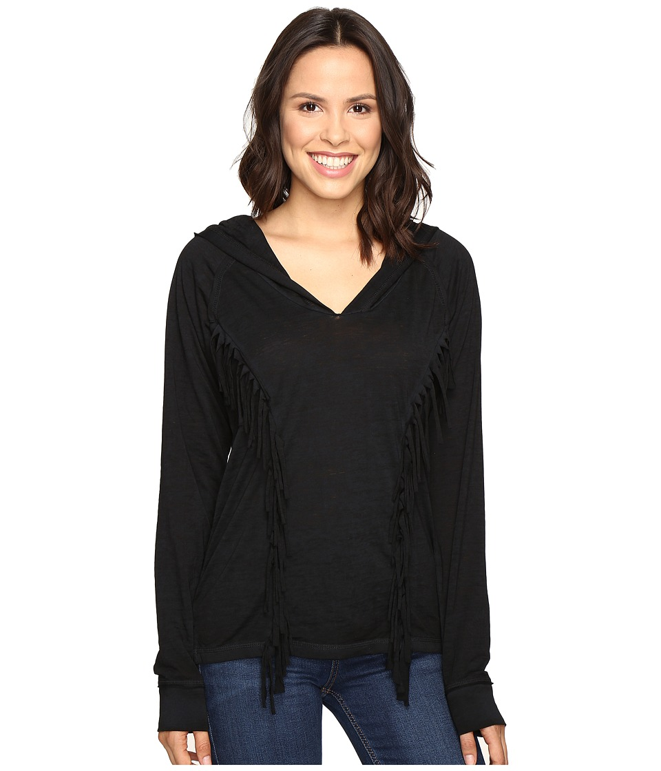 Rock and Roll Cowgirl - Long Sleeve Pullover 48H9216 (Black) Women's Long Sleeve Pullover