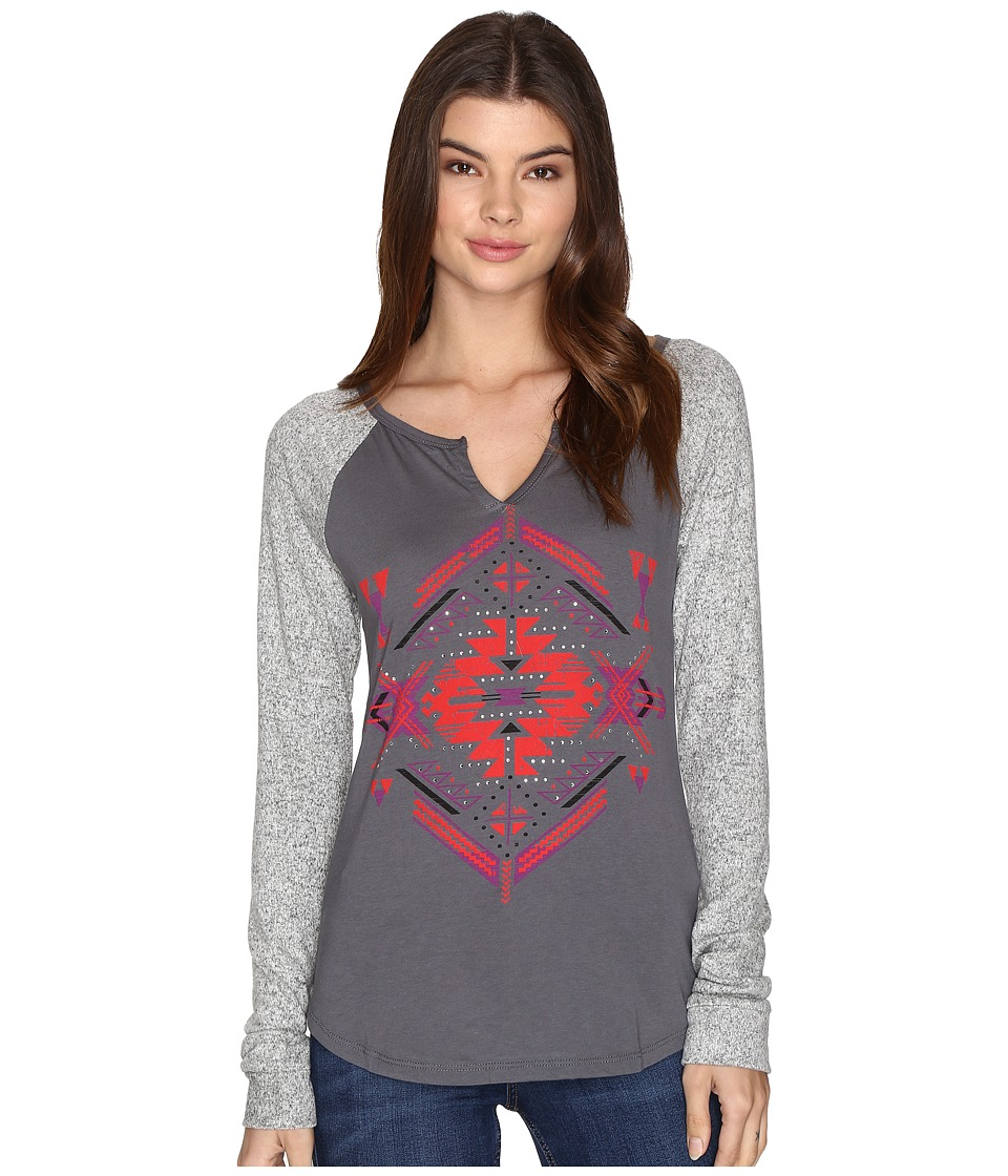Rock and Roll Cowgirl - Long Sleeve T-Shirt 48T9190 (Charcoal) Women's T Shirt