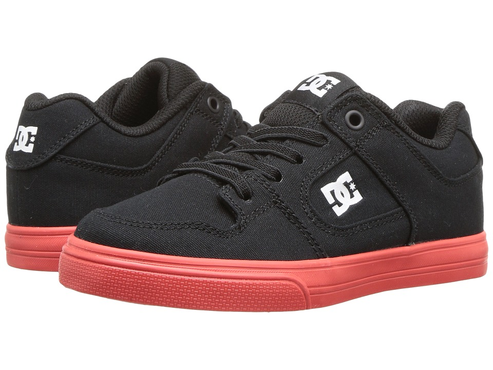 DC Kids - Pure Elastic TX (Little Kid/Big Kid) (Black/Red) Boy's Shoes
