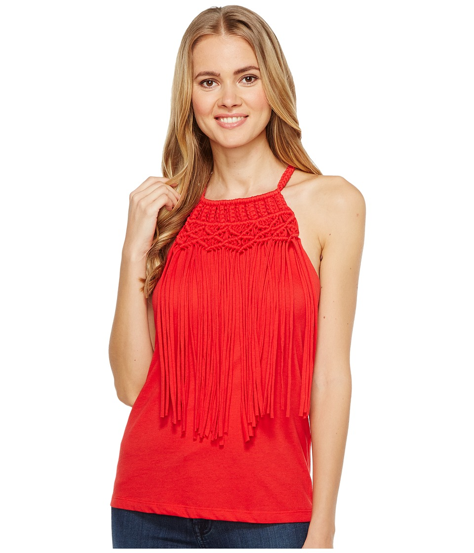 Ariat - Fringe Tank Top (Red Lacquer) Women's Sleeveless