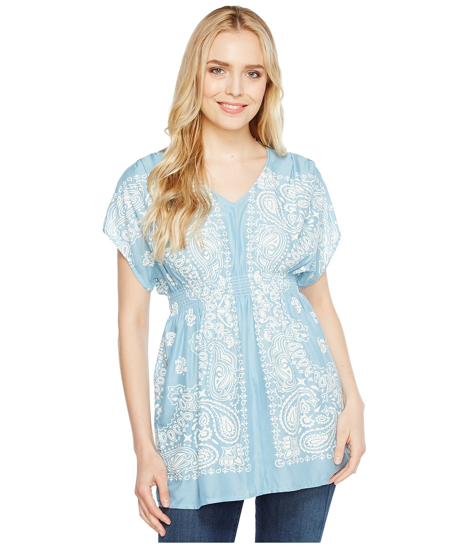 Ariat - Bandana Tunic (Bright Sky) Women's Blouse