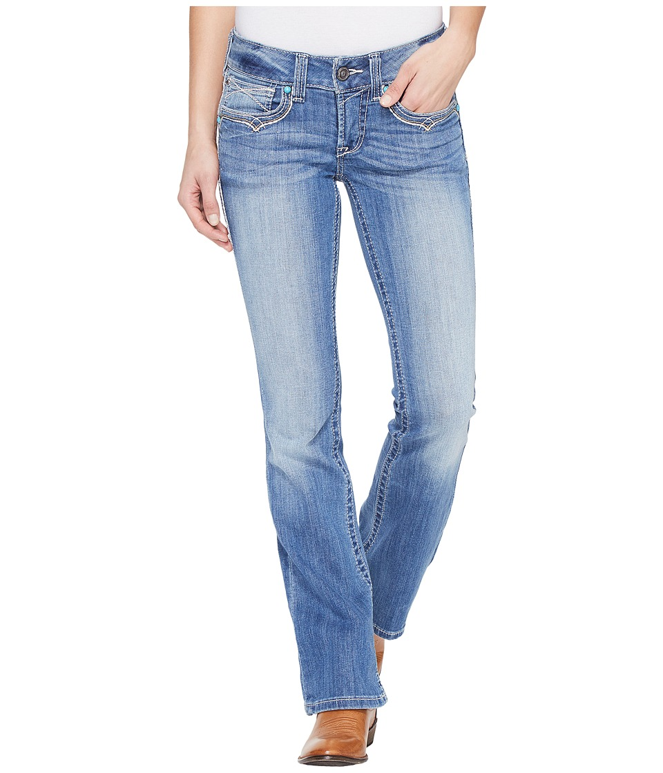 Ariat - R.E.A.L. Low Rise Boot Isabel Flap (Adrian) Women's Jeans