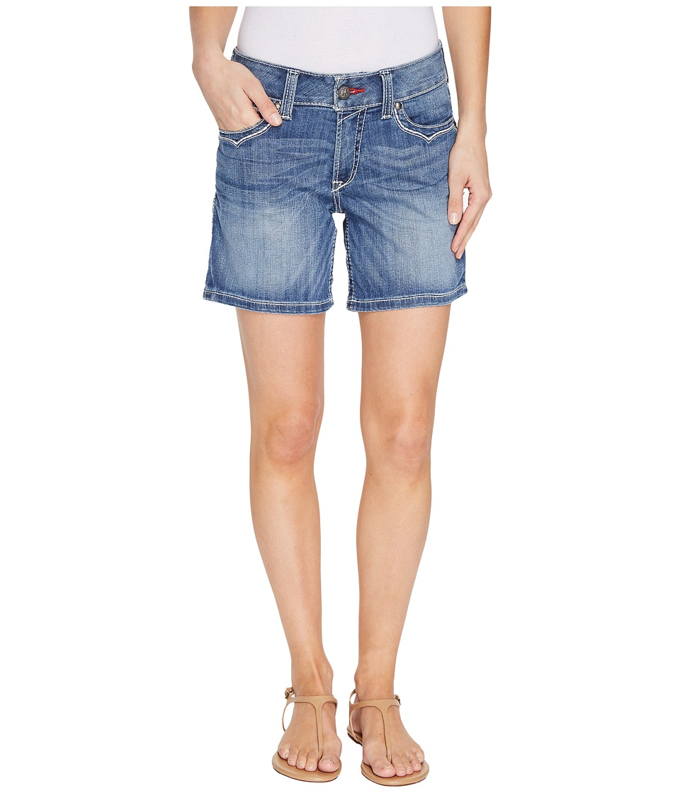 Ariat - R.E.A.L. Mid Rise Shorts Stars Stripes (Azure) Women's Shorts