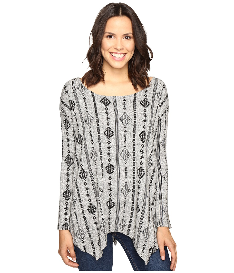Rock and Roll Cowgirl - Long Sleeve Sweater 48T9221 (Grey) Women's Sweater