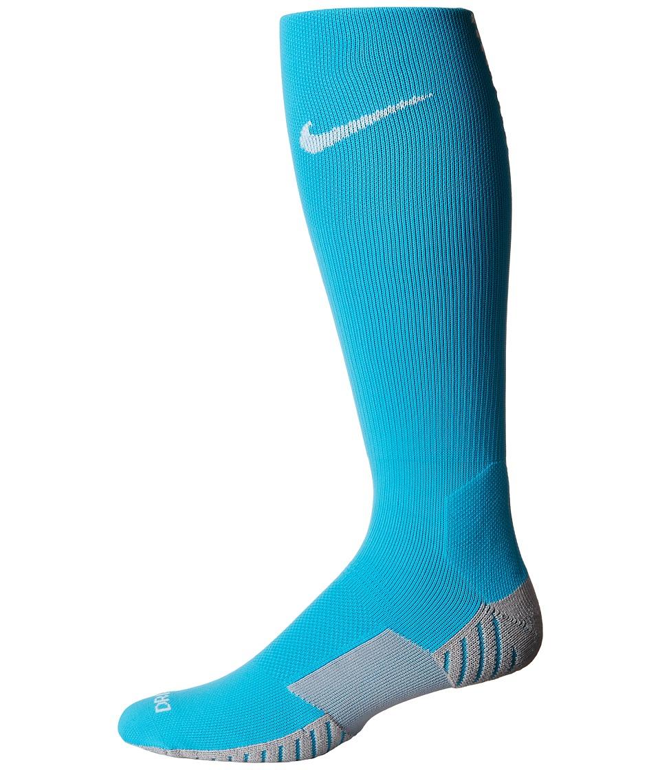 Nike Stadium Football OTC (Chlorine Blue/Wolf Grey/White) Knee High Socks Shoes