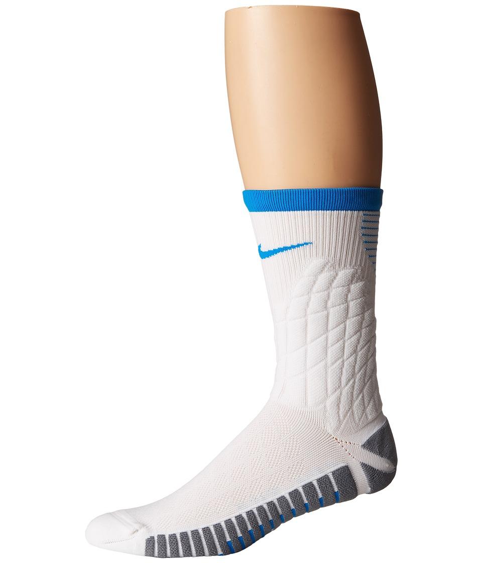 Nike Strike Hypervenom Crew Football Socks (White/Cool Grey/Photo Blue) Crew Cut Socks Shoes