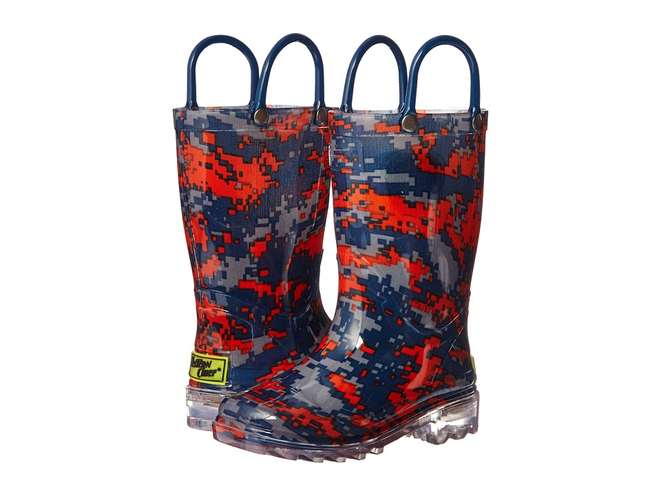 Western Chief Kids - Digital Camo Lighted Rain Boot (Toddler/Little Kid) (Navy) Boys Shoes