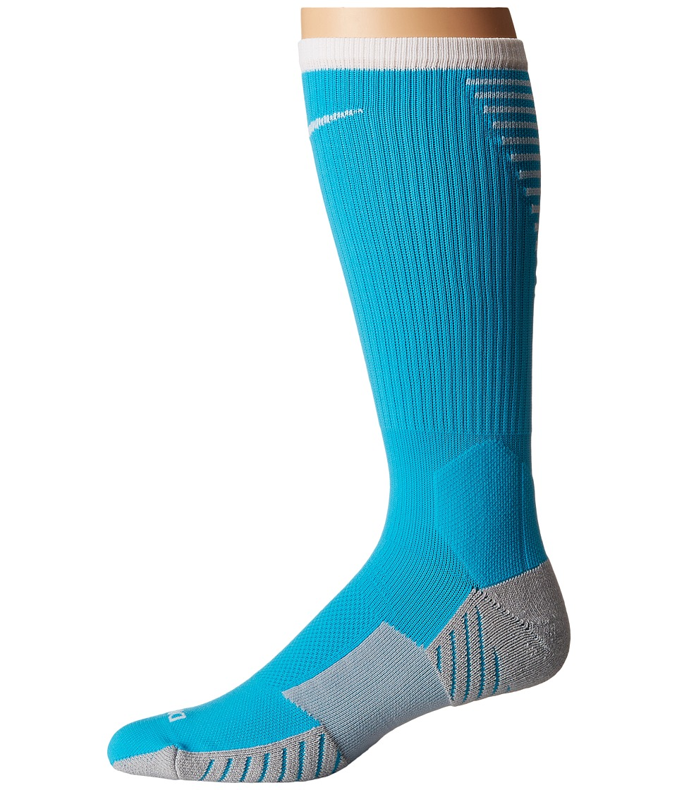 Nike Stadium Football Crew (Chlorine Blue/Wolf Grey/White) Crew Cut Socks Shoes