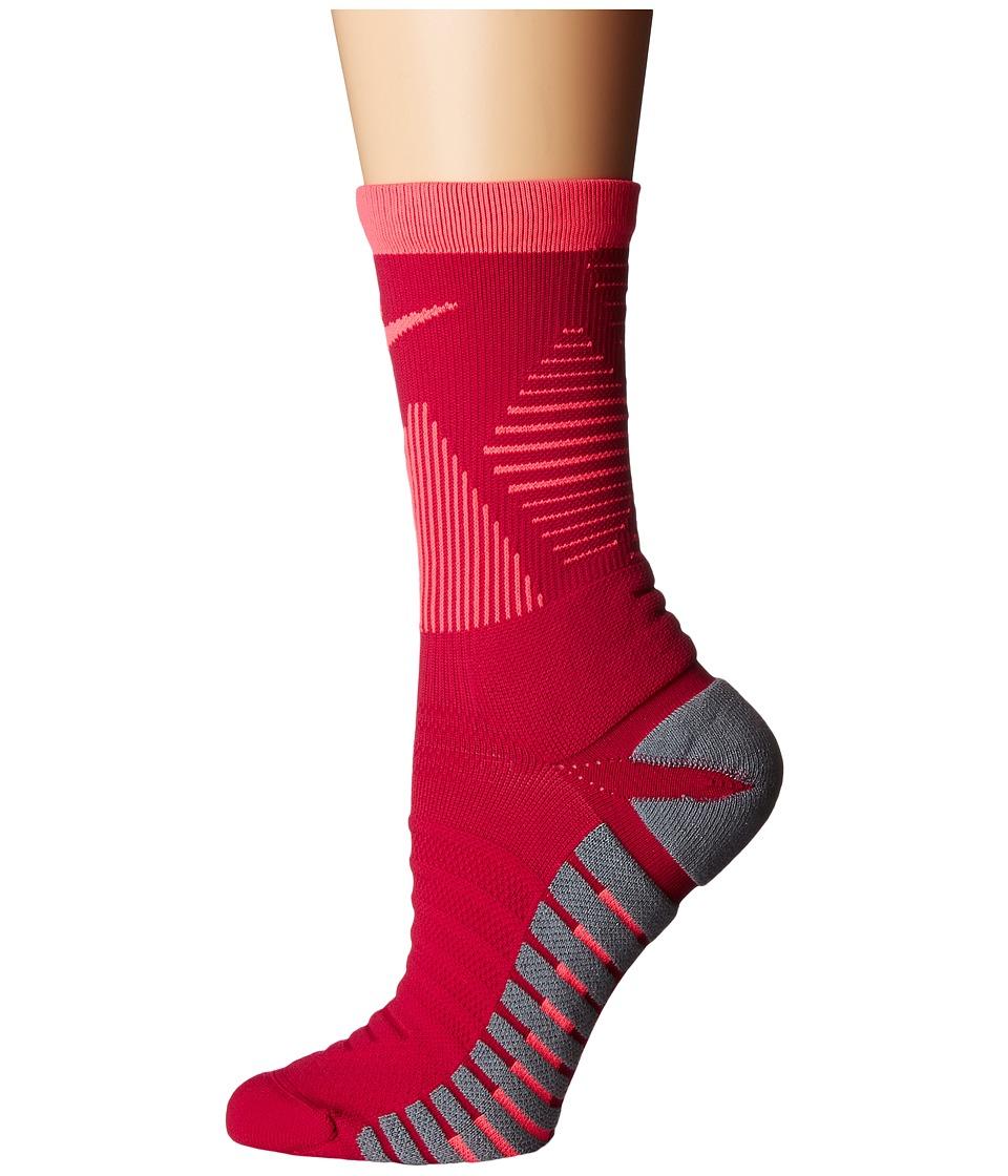 Nike Strike Mercurial Soccer (Sport Fuchsia/Racer Pink) Crew Cut Socks Shoes
