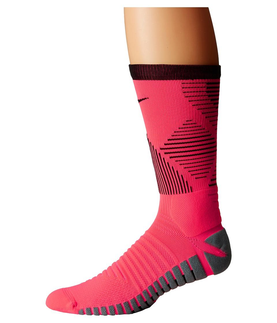 Nike Strike Mercurial Soccer (Racer Pink/Black) Crew Cut Socks Shoes