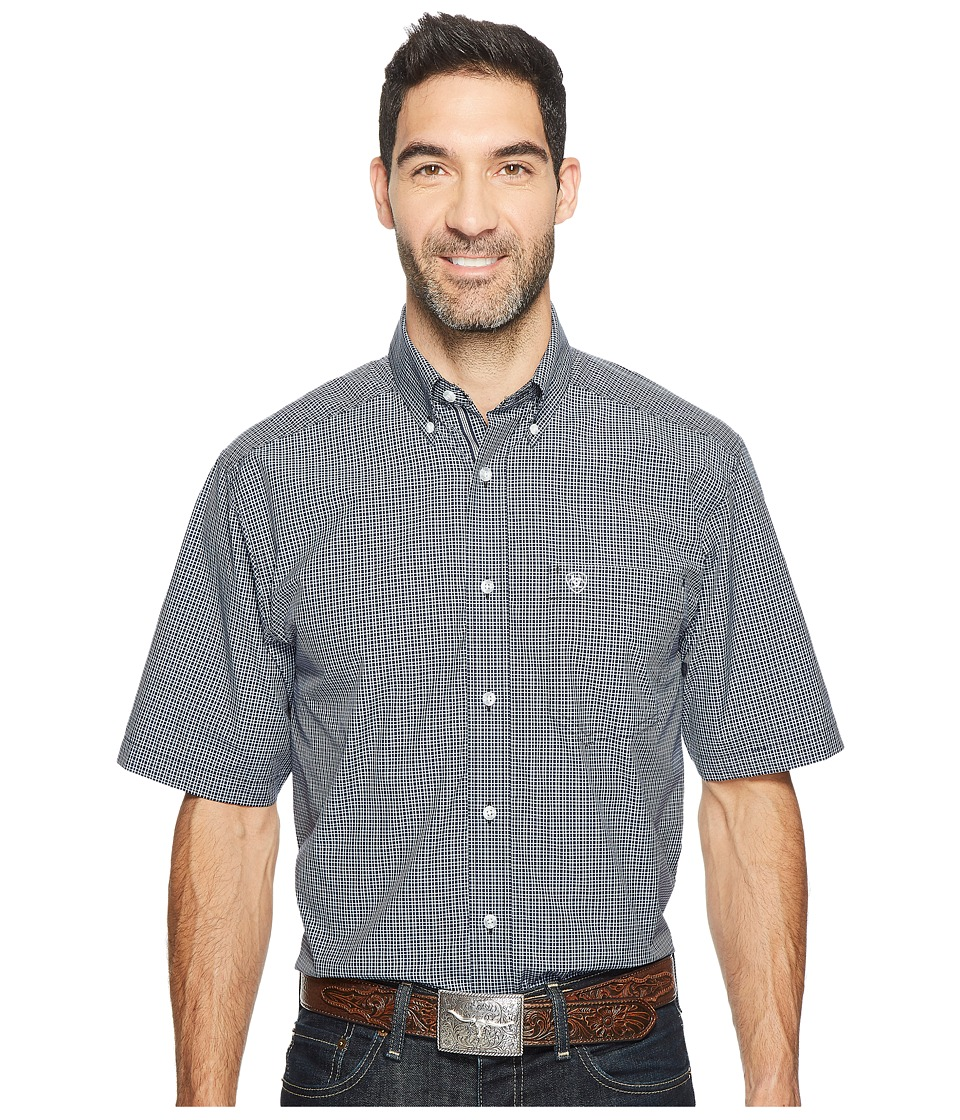 Ariat - Midfield Shirt (Topside Navy) Men's Short Sleeve Button Up