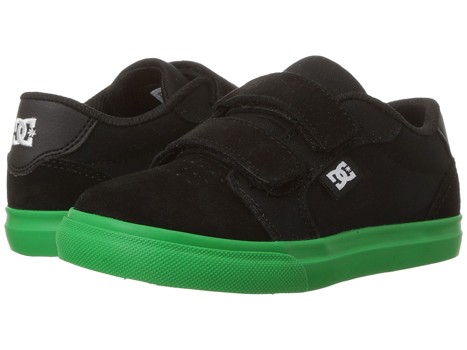 DC Kids - Anvil V (Toddler) (Black/Green) Boys Shoes