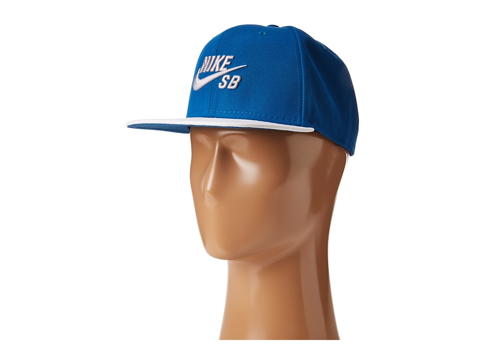 Nike SB - Icon Snapback (Industrial Blue/White/Black/Wolf Grey) Caps