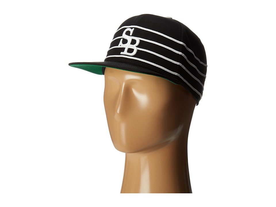 Nike SB - SB Stripe Hat (Black/White/Pine Green/White) Baseball Caps
