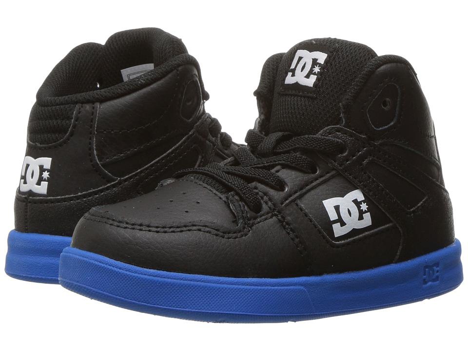 DC Kids - Rebound UL (Toddler) (Black/Royal) Boys Shoes