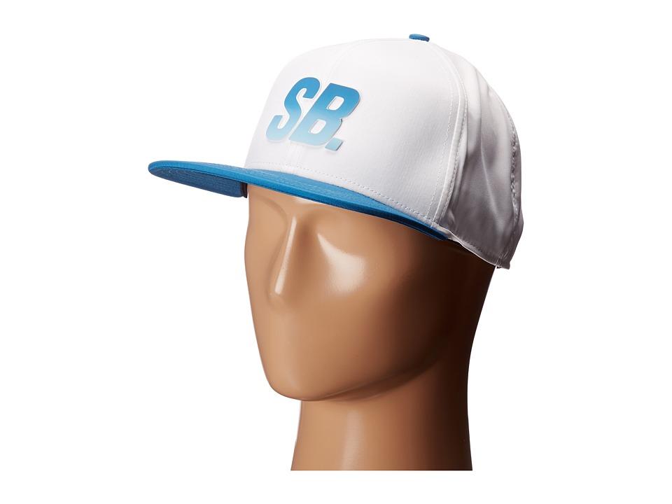 Nike SB - SB Fade Dri-Fit Hat (White/Industrial Blue/Black/Mica Blue) Baseball Caps