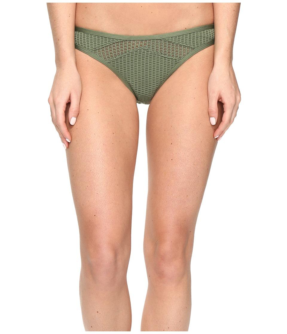 Red Carter - Sun Dance Mesh Inset Cali Hipster Bottom (Moss) Women's Swimwear