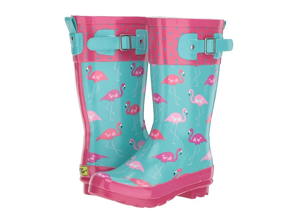 Western Chief Kids - Classic Tall Fab Flamingo (Little Kid/Big Kid) (Sky Blue) Girls Shoes