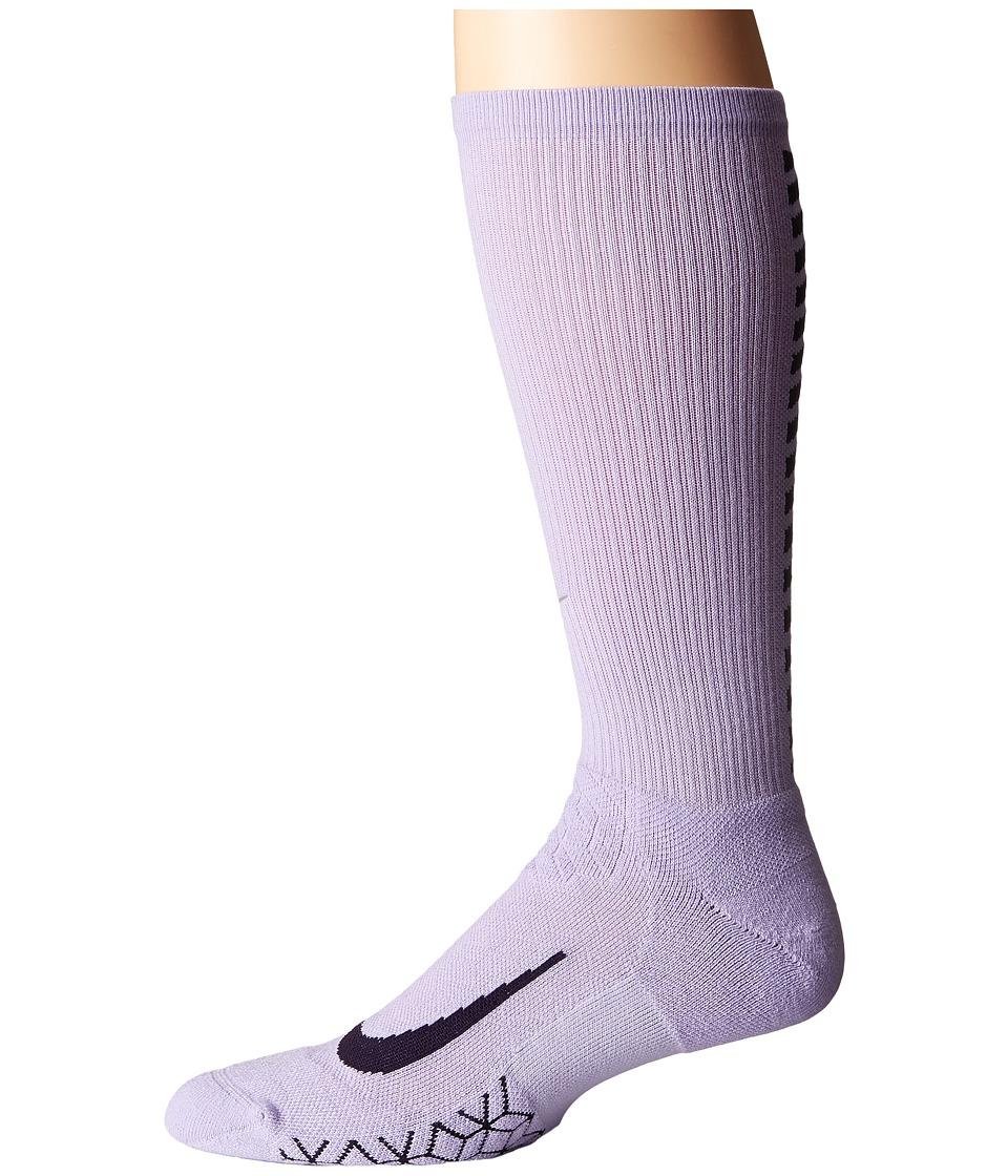 Nike Elite Running Cushion Crew Socks (Hydrangeas/Purple Dynasty) Crew Cut Socks Shoes