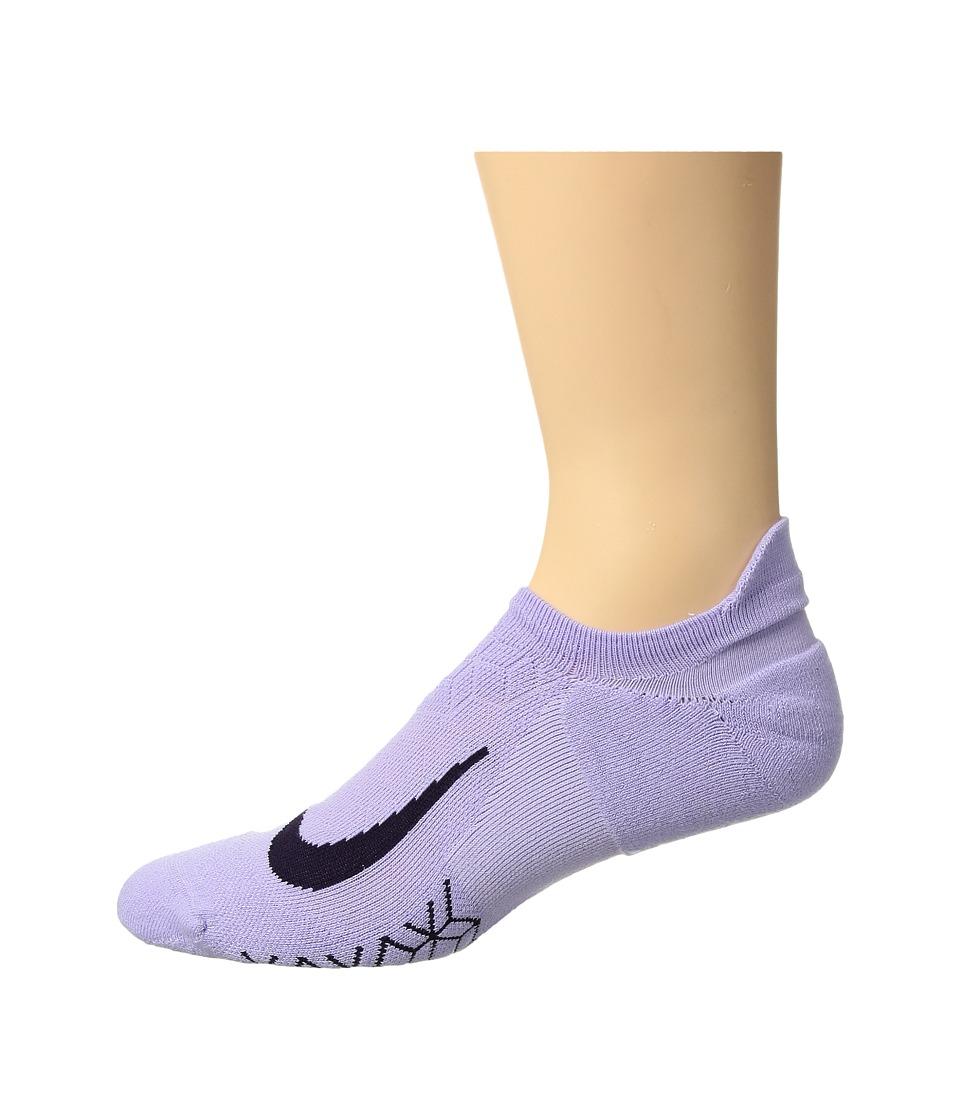 Nike Elite Cushion No-Show Tab Running Socks (Hydrangeas/Purple Dynasty) No Show Socks Shoes