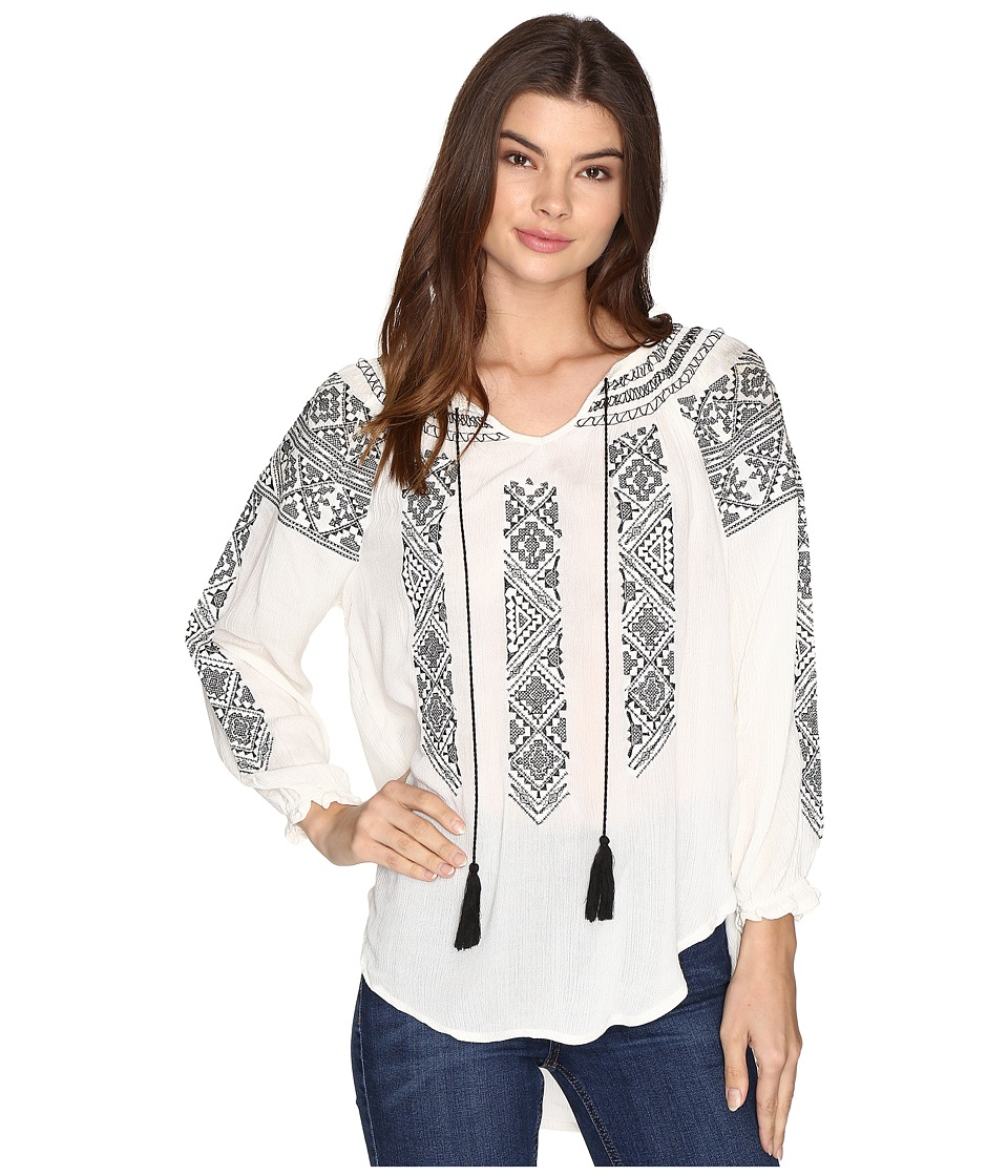 Rock and Roll Cowgirl - 3/4 Sleeve Top B4-8352 (Natural) Women's Clothing