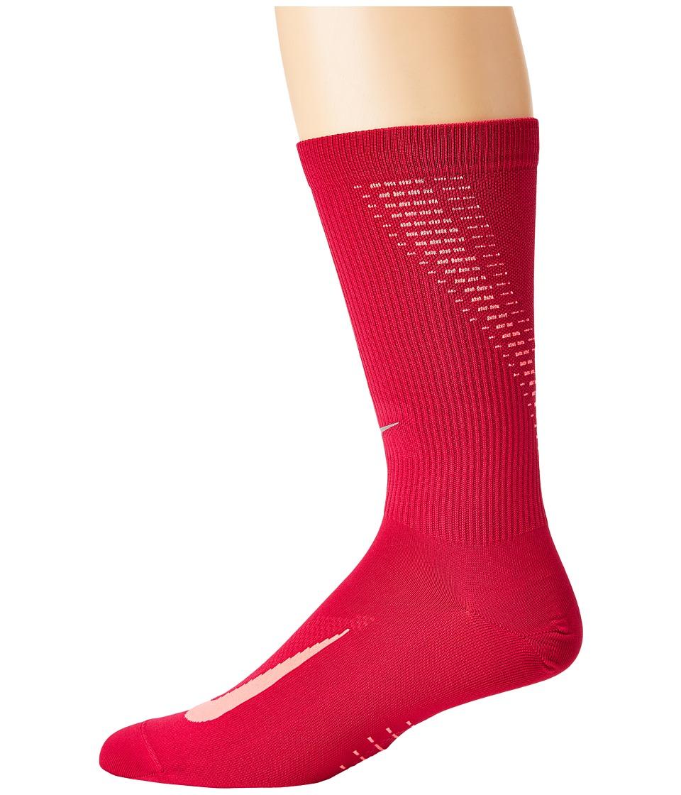 Nike Elite Run Lightweight 2.0 Crew (Sport Fuchsia/Racer Pink/Reflect Silver) Crew Cut Socks Shoes