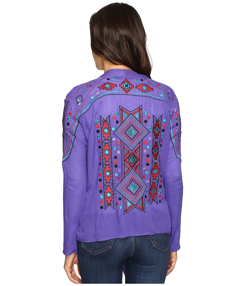 Rock and Roll Cowgirl - Long Sleeve Cardigan B4-9118 (Purple) Women's Sweater