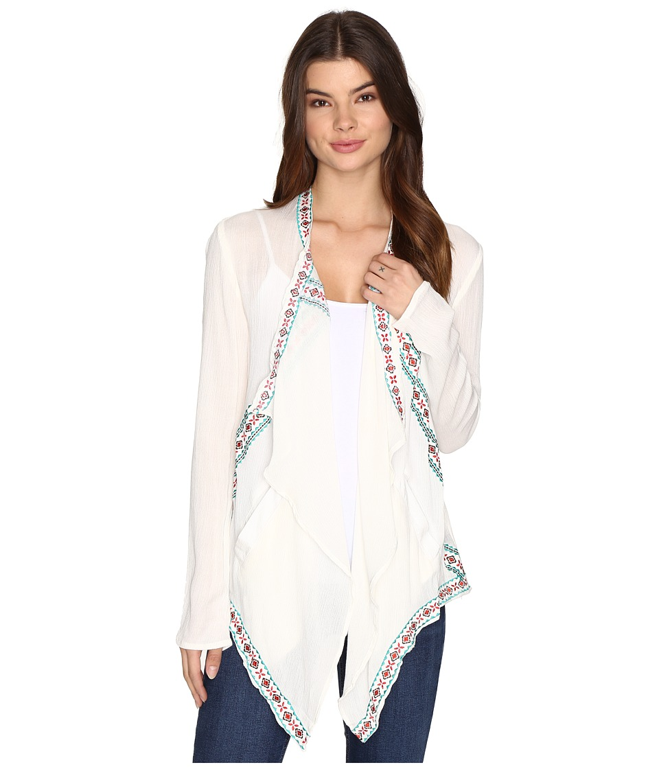 Rock and Roll Cowgirl - Long Sleeve Cardigan B4-9116 (Natural) Women's Sweater