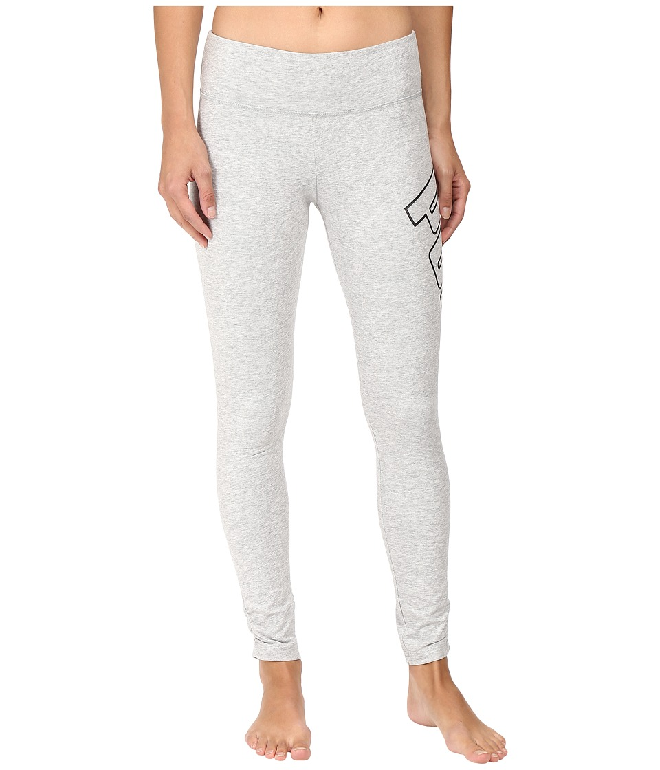 PUMA - Logo Leggings (Light Gray Heather) Women's Clothing