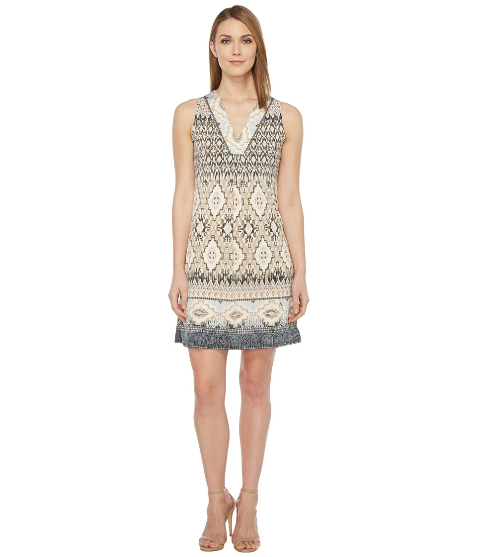 Hale Bob Permanent Vacation Microfiber Jersey Sleeveless Dress (Beige) Women