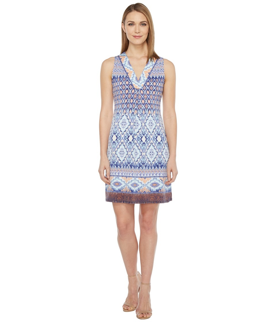 Hale Bob - Permanent Vacation Microfiber Jersey Sleeveless Dress (Blue) Women's Dress