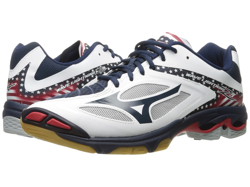 Mizuno - Wave Lightning Z3 (Stars & Stripes) Men's Volleyball Shoes