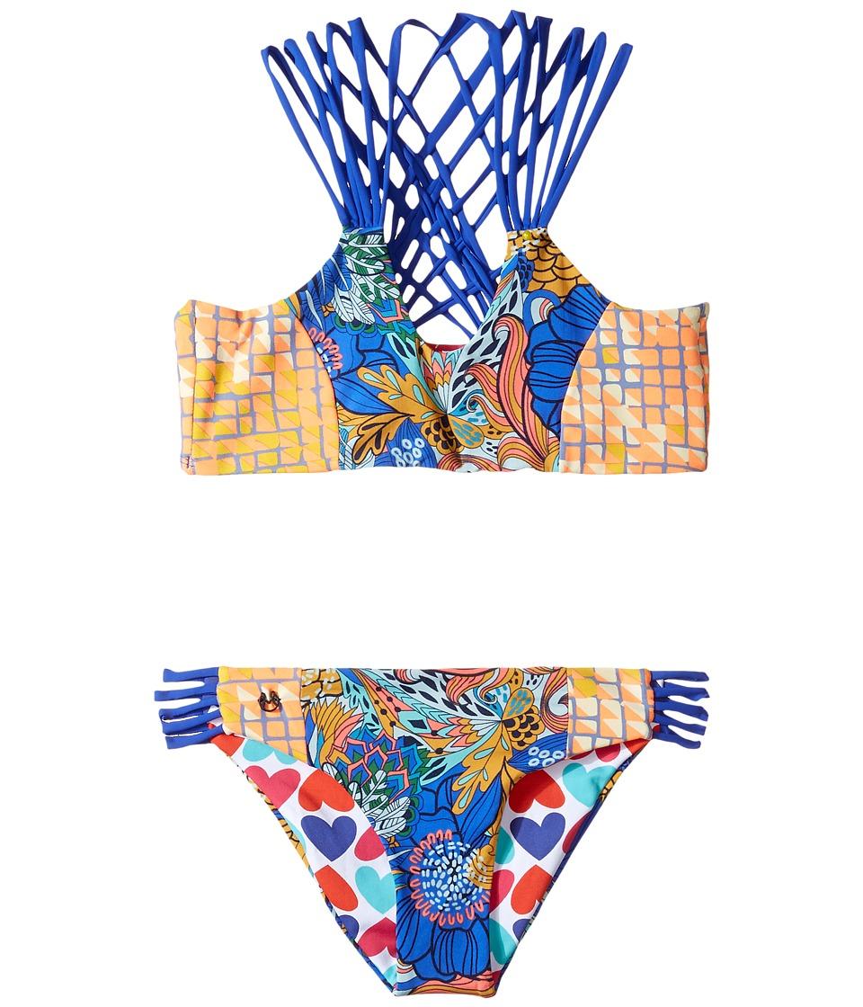 Maaji Kids - Psychodelic Twist Bikini Set (Toddler/Little Kids/Big Kids) (Multicolor) Girl's Swimwear Sets