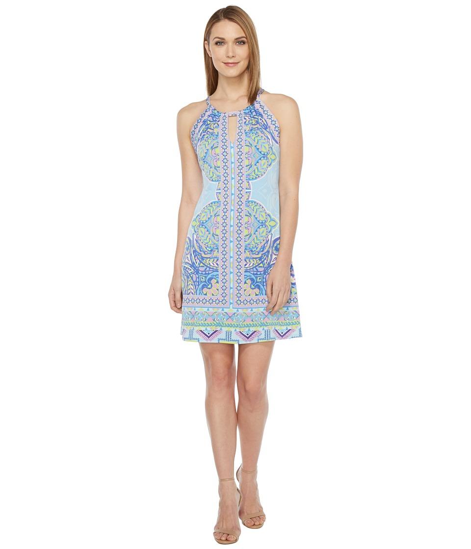 Hale Bob Golden Age Microfiber Jersey Dress (Blue) Women