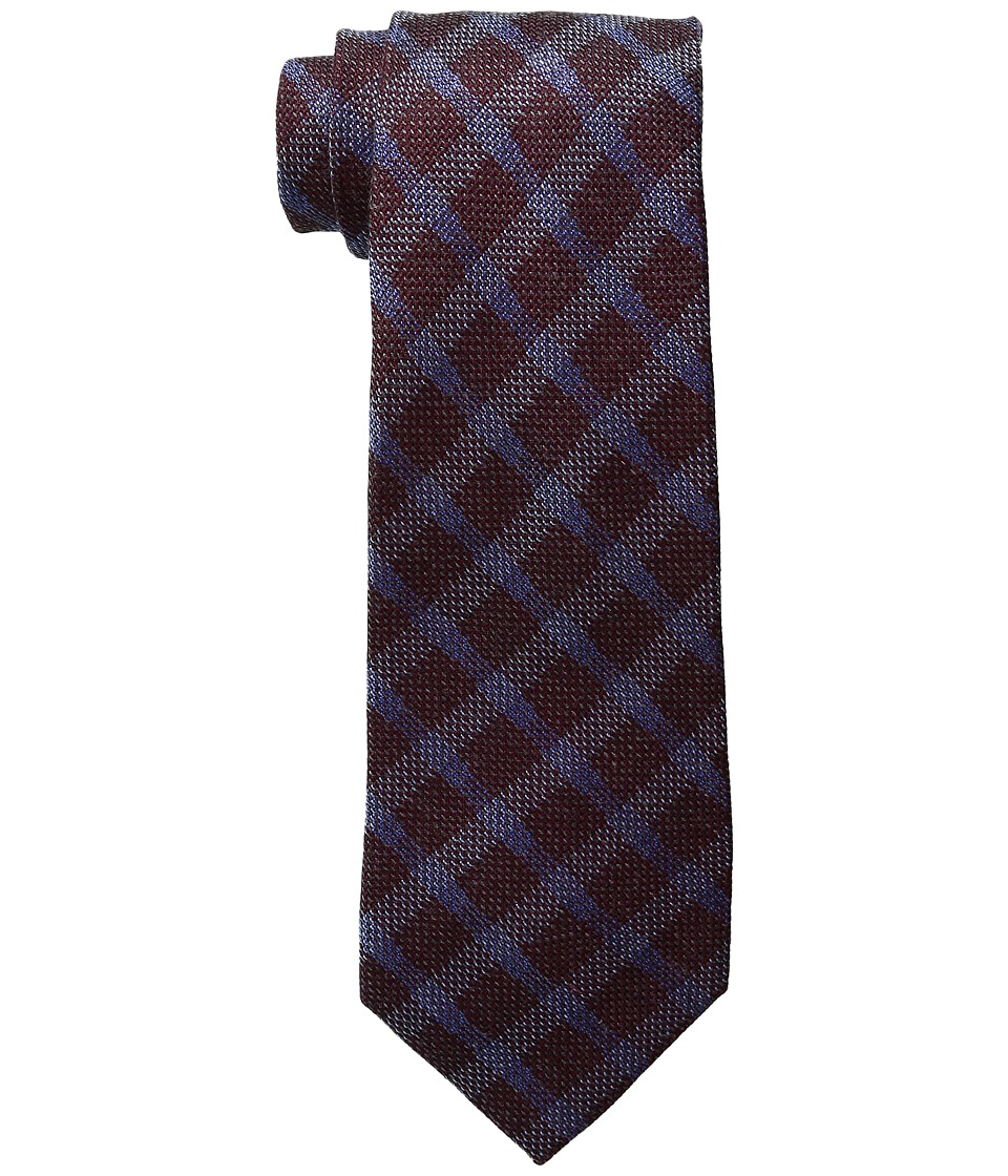 MICHAEL Michael Kors - Subtle Grid (Burgundy) Ties