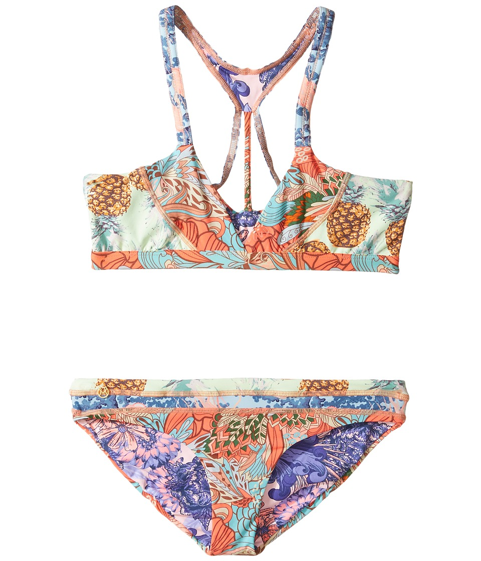 Maaji Kids - Orange Colada Bikini Set (Toddler/Little Kids/Big Kids) (Multicolor) Girl's Swimwear Sets
