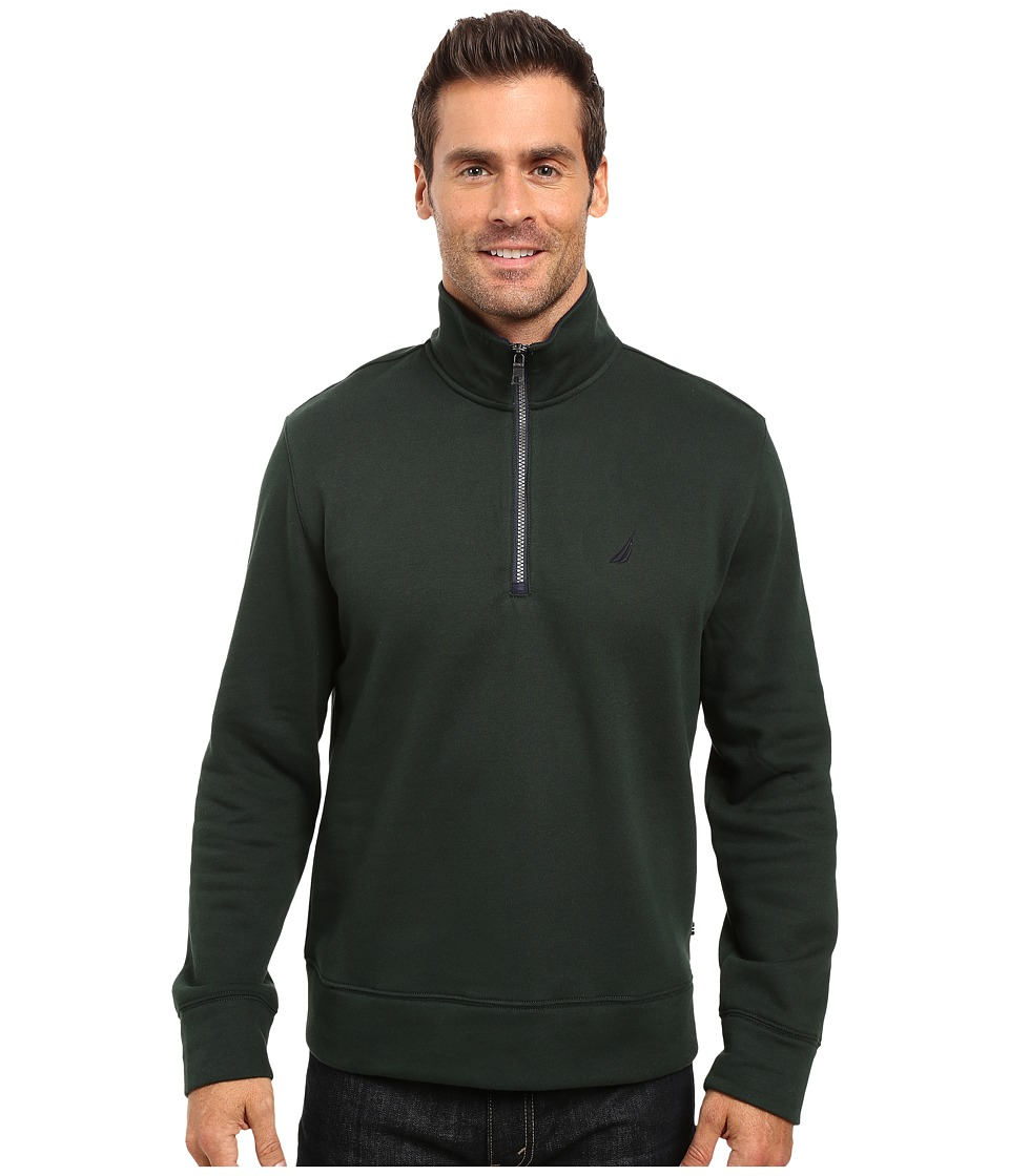 Nautica - 1/4 Zip Pullover (Kelp Seas) Men's Clothing