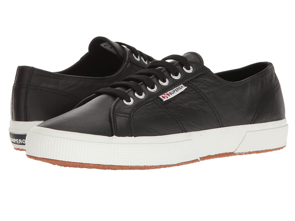 Superga - 2750 Auleau (Black Leather) Lace up casual Shoes