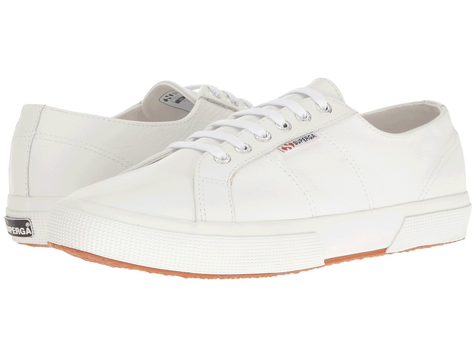 Superga 2750 Auleau (White Leather) Lace up casual Shoes