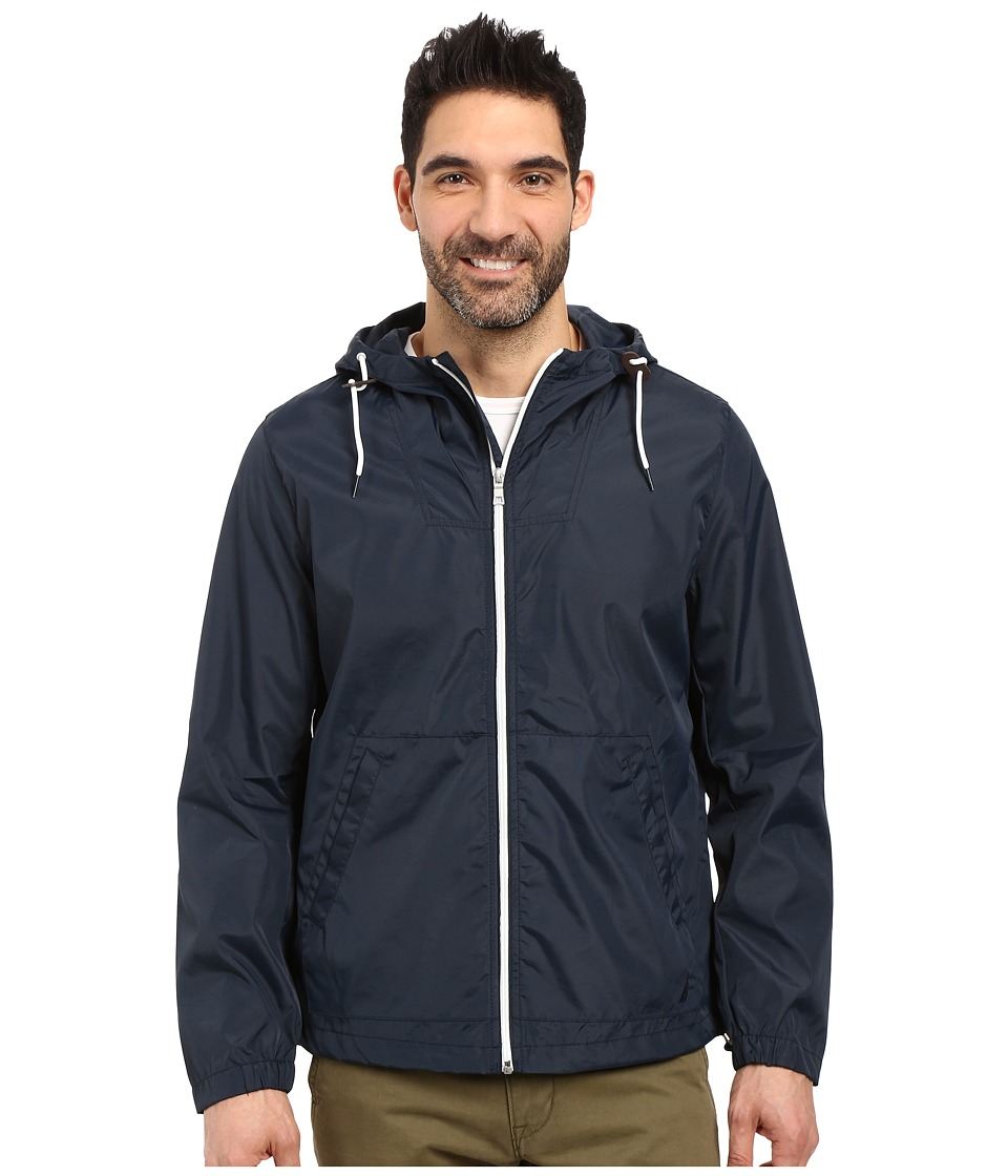 Nautica - Hoodied Bomber Jacket (True Navy) Men's Coat