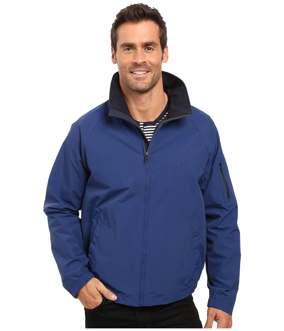 Nautica - Fashion Color of Anchors Light Weight Bomber Jacket (Estate Blue) Men's Coat