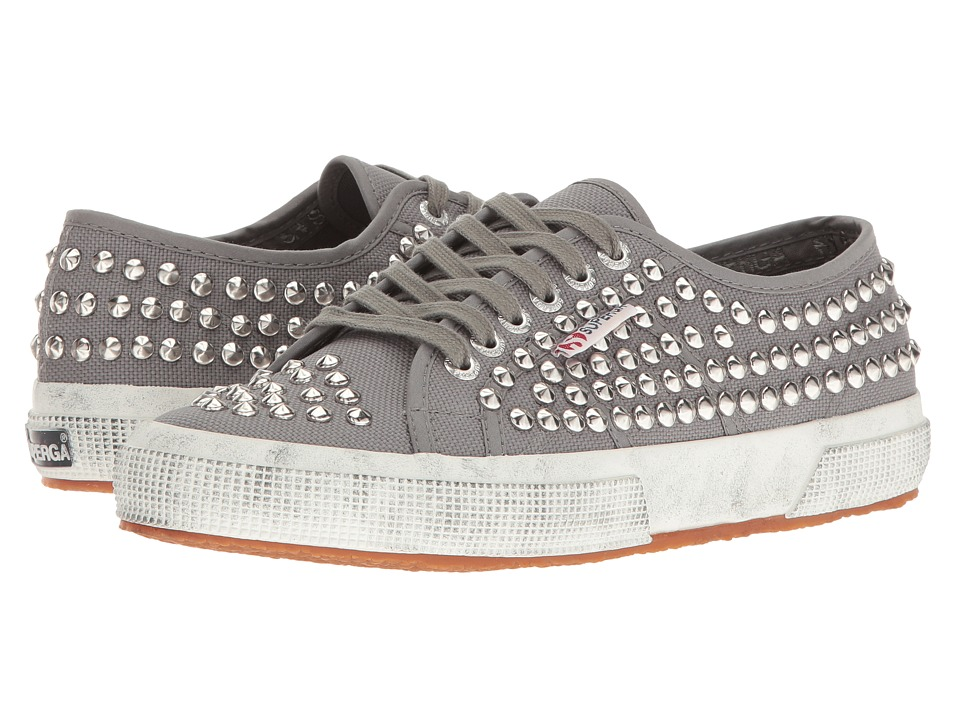 Superga - 2750 Cotstuds2W (Grey/Silver Cotton) Women's Shoes
