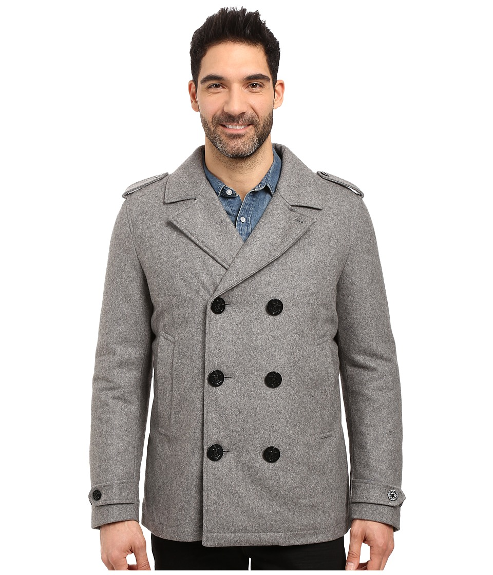 Nautica - Military Peacoat (Grey Heather) Men's Coat