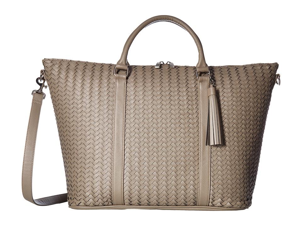 Deux Lux - Sullivan Weave Weekender with Tassel (Grey) Bags