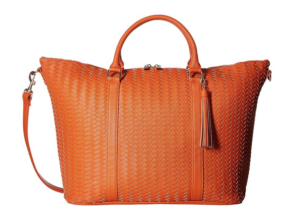 Deux Lux - Sullivan Weave Weekender with Tassel (Pumpkin) Bags