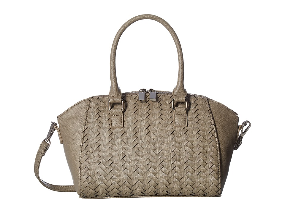 Deux Lux - Sullivan Weave Satchel (Grey) Satchel Handbags